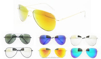 2015 new unisex metal polarized mirror sunglasses aviator