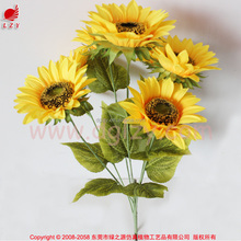 Artificial sunflower bouquet for home decoration and floral arrangement