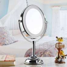 1X/10X Double Vision LED Light Make Up Mirror