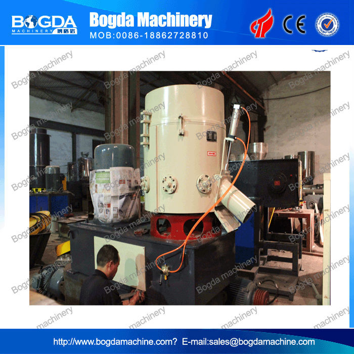 Film agglomerator, plastic recycling, films compactor