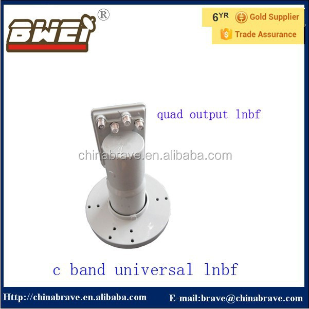 china gold supplier c band lnbf 5150/5750mhz quad c band lnbf
