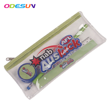 2018 PVC pencil case set with ruler, pencil and sharpener