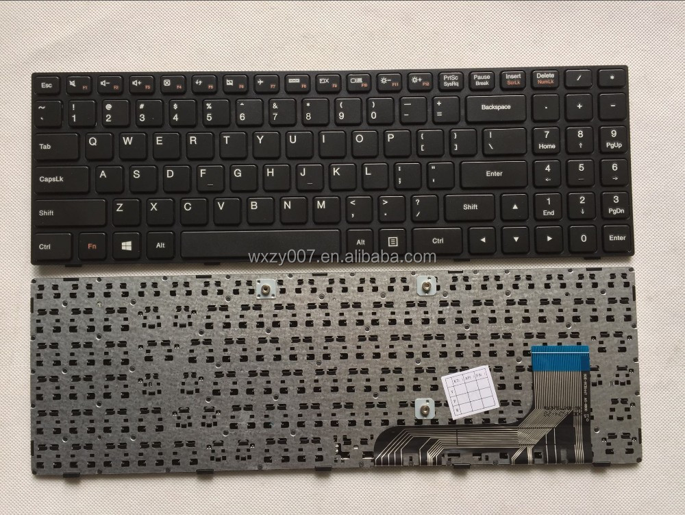NEW Original For Lenovo 100-15IBY NSK-BR0SN Laptop keyboard US keyboard Version Black
