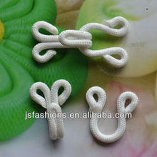 Fashion fabric coated hook and eyes fateners white color