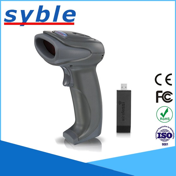 433Mhz Wireless Barcode Reader Long Range Transmission 1D Barcode scanner with USB Receiver for Store,Supermarket,Warehouse