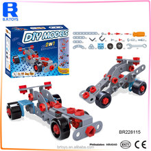 Educational toys ABS plastic 110 pcs toy car assembly kit for children