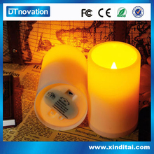 Melted Top edge candle Flameless led candle