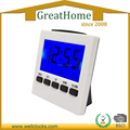 High quality big sreen LCD table alarm clock with backlight