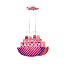 Modern cute submarine shape MDF and plastic kids hanging bedroom pendant lamps