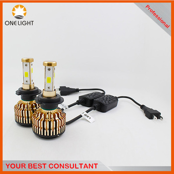With gift.Best price led headlight car interior light spare parts T4 9006 hb4 super bright cob led headlight hid replace kit
