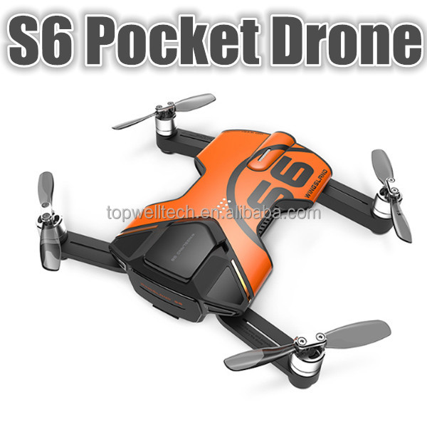 Promotion S6 Pocket Drone FPV Quadcopter With 4K HD Camera RC helicopter PK DJI mavic pro