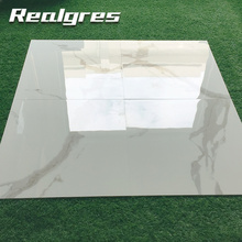 Y60163 Aaa Class Porcelain Large Size Gray Glossy Travertine Look Thin Tiles