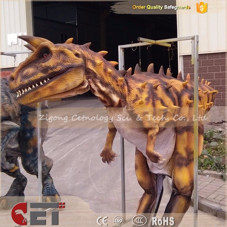 CET-H492 Robotic Walking Lifelike Adult Costumes Dinosaur Exhibition Product