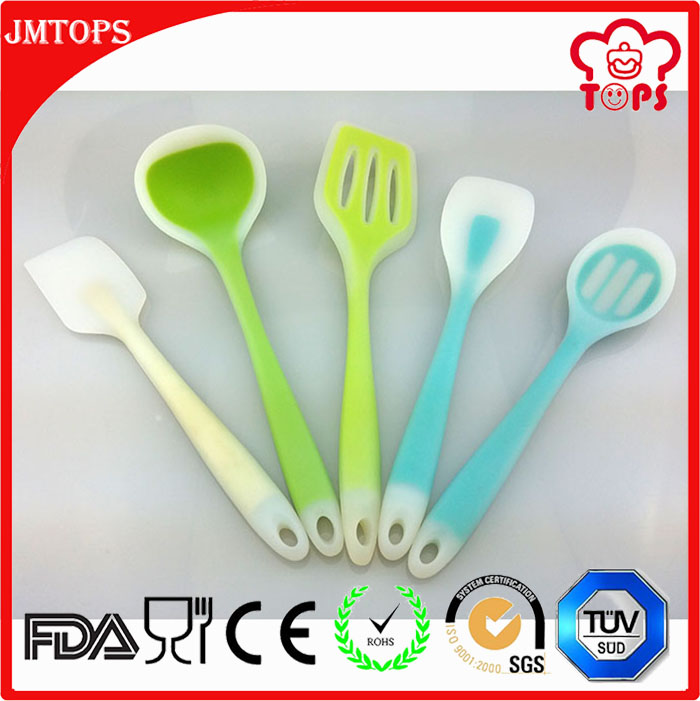 Durable siliocone cooking set, food grade silicone turnner, wholesale silicone cooking tools