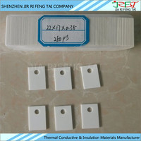 Thermal Electronic Alumina Ceramic Substrate With Size 22mm*17mm*0.38