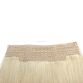 Hot Selling Top Quality Double Drawn Halo Hair extension Flip Blonde Hair
