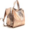 Alibaba wholesale cow leather rose gold genuine leather tote bags for women