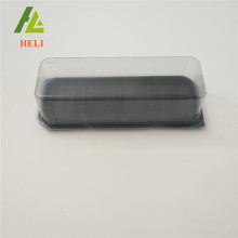 Black base plastic cake box packaging for cookies and cakes