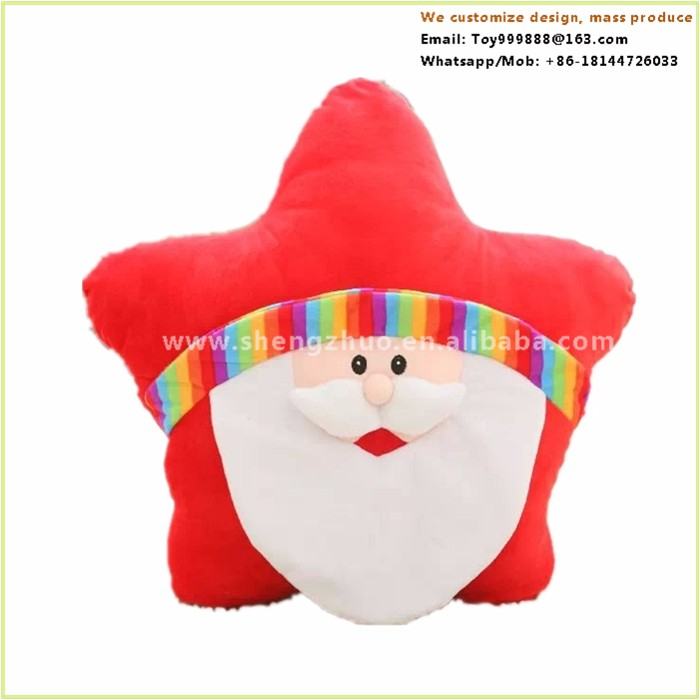 Christmas santa star square wholesale decorative heating pillow
