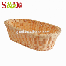 Fast delivery kitchen accessories plastic rattan picnic basket set