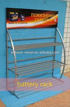 car battery display rack stand