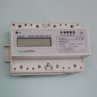 DIN-RAIL three phase remote controls pulse counter modbus energy meter DTS5558