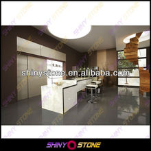 2013 HOT convenient Design White Acrylic Solid Surface Kitchen Counter Top set