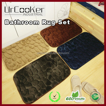 Fast Dry Memory Foam Bath Mats Soft Comfortable Water Absorbent-on-Slip Backing for Bedroom, Kitchen, Hallway, Doorway