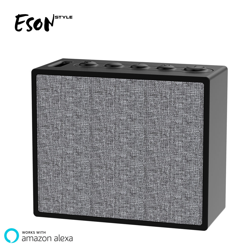 Eson Style Wifi Bluetooth Speaker Bluetooth IP56 Alexa Smart Speaker For Voice Controlled Speakers 3.7V 1000mAH