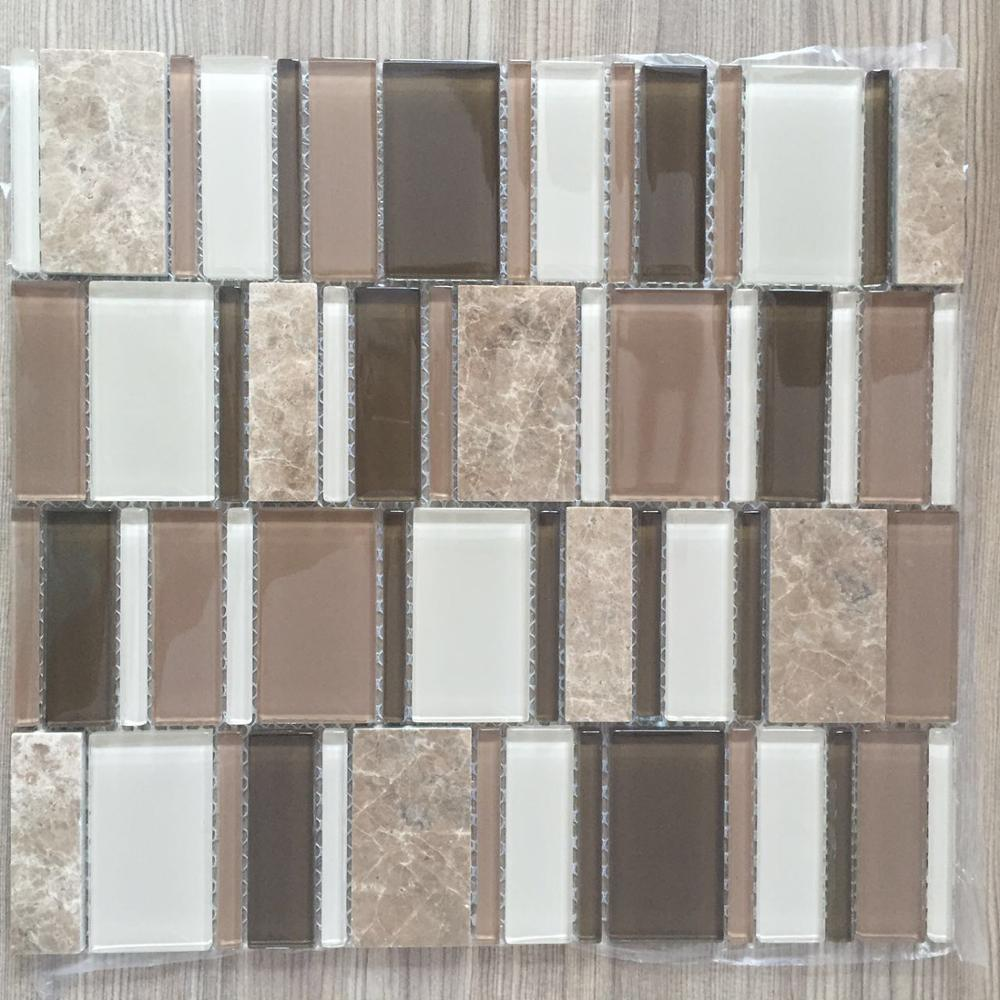 glass mix stone mosaic
