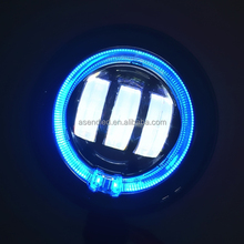 "On Sale! 4.5"" angel eye led driving lights 30w motorcycle halo led drivinglights led fog lamps with ring for Harley"