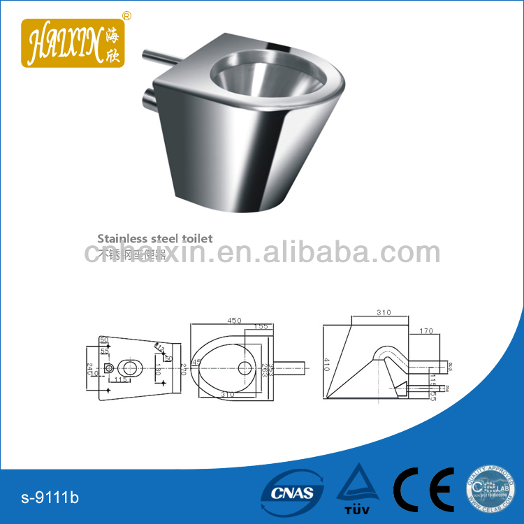 Stainless Steel Wall Hung Toilet
