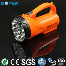 110-250V European Plug ABS Torch Light 15 LED Rechargeable Plastic Portable Flashlight