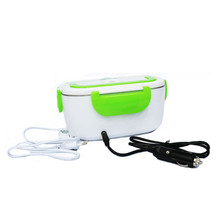 Easy Carrying Food Warmer Car Heated Mini Electric Lunch Box with stainless Steel Food box