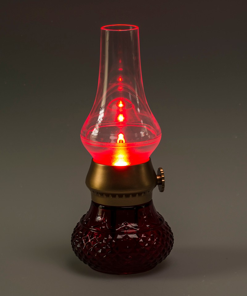 green blue red Novelty rechargeable blow led table lamp