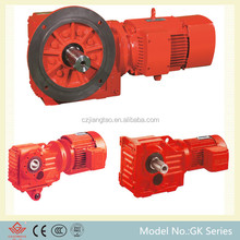 Long service time Helical - bevel drawing of gear box right angle gear drive for lawn mower