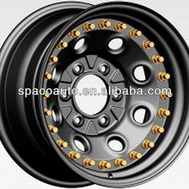 Doule side beadlock wheel rim for dump truck 3 pieces for JEEP