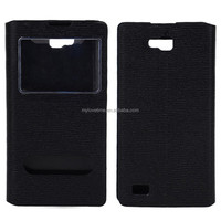 Custom Multicolored left Flip Smart Leather sleeves for Huawei honor 3c