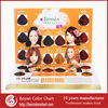 Boyan 8cm Round Shade Hair Color Swatch Chart Asian Hair Color Chart In Two Pages