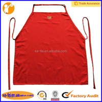 apron with two buckle red long embroidery lady apron
