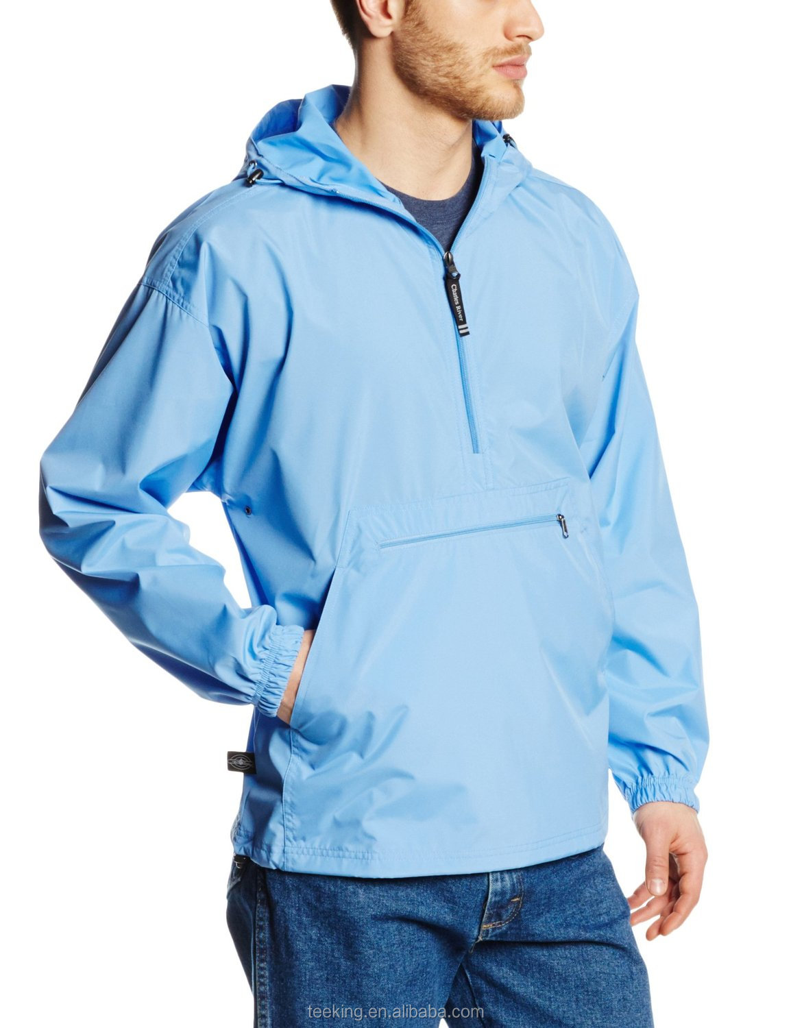 Custom men's Lightweight polyester Windbreaker Pullover jacket