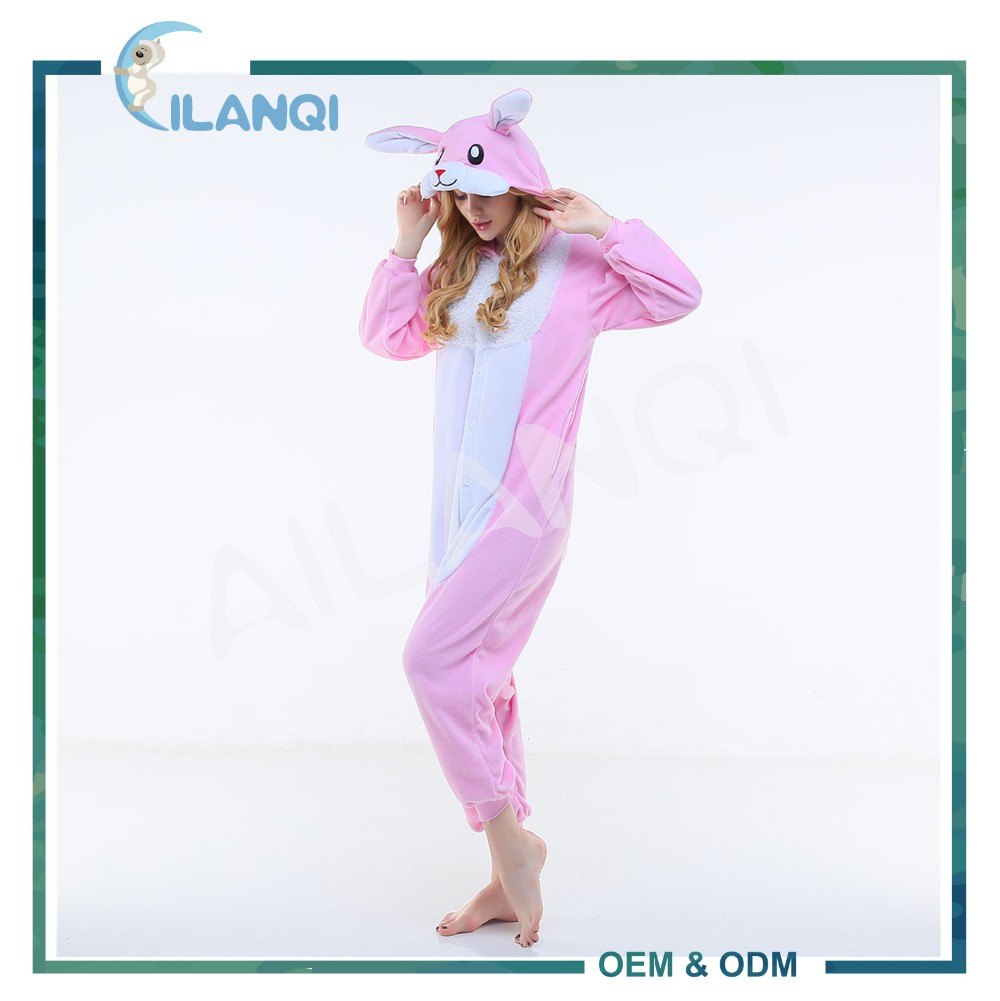 ALQ-A016 Funny and easy to wear fleece adult pajama party costumes