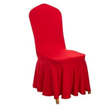 Ruffled chair cover/ skirt spandex tub folding chair cover /ruched universal santa tutu tub elastic chair cover for weddings