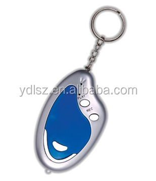 drum shape sound keychain