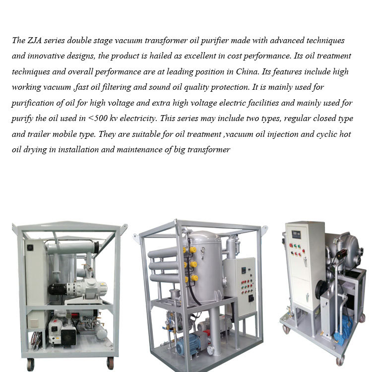 TOVPS Transformer Oil Vacuum Purification System, Transformer Oil Purification Plant