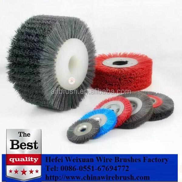 Professional factory made Rotary nylon abrasive bristle roller brush