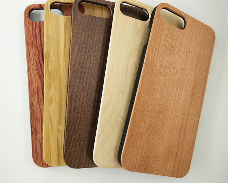 Free Sample Blank Wood PC Back Cover Mobile Phone Case OEM Service For Iphone 7 7P