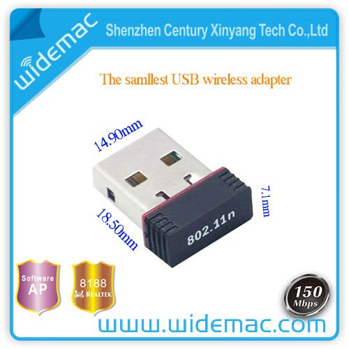 150Mbps Mini Wifi Devices for Desktop Usb Wireless Adapter(SL-1501N)
