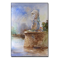 Famous art stone lion modern canvas painting manufacturer from china