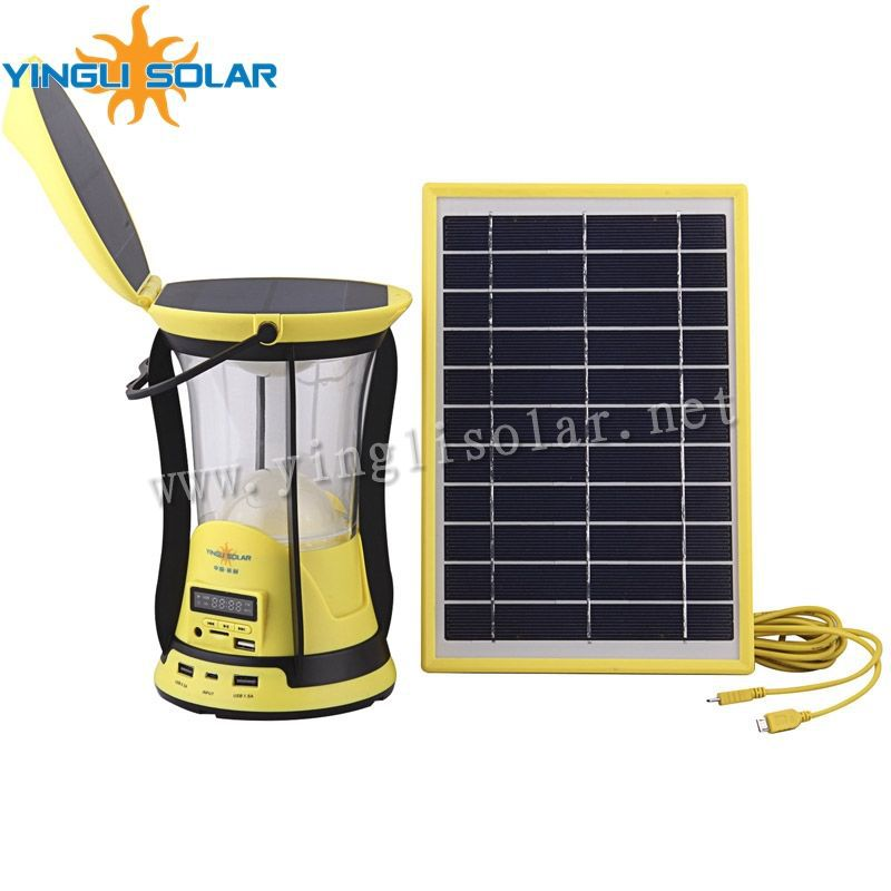 Rechargeable LED solar lantern with 2 pcs solar panel SZYL-SCL-N801